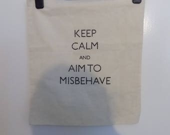 Handmade tote bag -Firefly/Serenity. Keep Calm and Aim to Misbehave