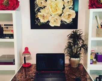 Paper Flower Wall Decor