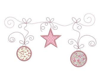 Design de broderie téléchargement instantané Noël guirlande