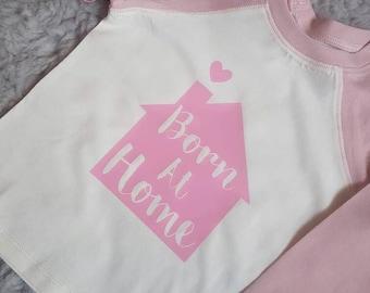 Baby / toddler born at home home birth baseball t-shirt