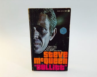 Vintage Pop Culture Book Bullitt by Robert Pike 1969 Movie Tie-In Edition Paperback