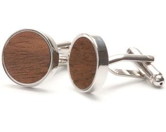Straight Walnut - Wooden cufflinks