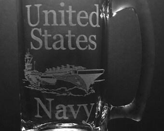 United States Navy 25 Ounce Beer Mug