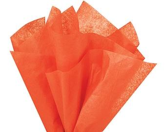 Orange Tissue Paper . 20 x 30 inches . 24 sheets