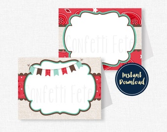 Cowgirl Buffet Labels, Cowgirl Place Cards, Western Party Decorations, Cowgirl Birthday, Printable Food Labels INSTANT DOWNLOAD