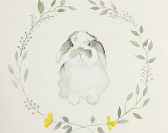 Bloom Bunny Watercolor