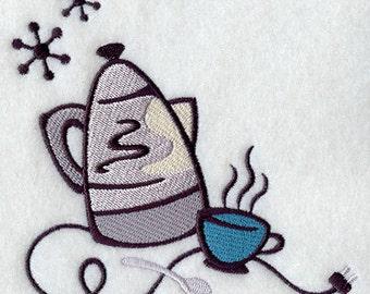 Coffee Corner Embroidered Flour Sack Hand/Dish Towel