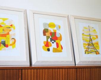 20 % de réduction: 3 gros estampes de votre choix - Mid Century Modern Art 11 x 16