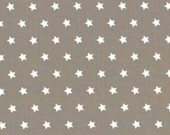 50 x 50 cm taupe fabric white stars