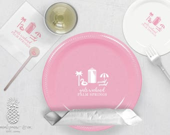 Floatie Pool Party | Plates, Napkins or Cups Stir Sticks | Birthdays, Weddings, Engagement Bridal Parties or Baby Showers | social graces Co