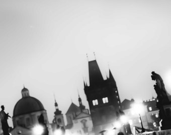 "Prague Photography, Charles Bridge, ""Ominous Morning"""