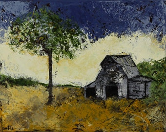"""Barn scene canvas, painting, art, Yesterday, 3/4"""" thick canvas"""