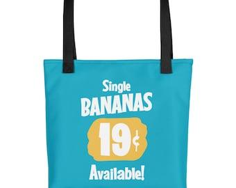 Single Bananas All Over Printed Tote Bag