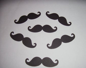 100-Mustache-die cut punches/parties/confetti/birthday/table decor./weddings/crafts