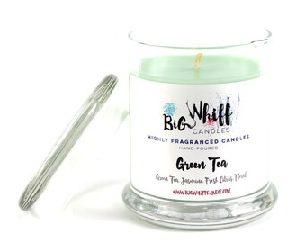 Green Tea - Scented Candles, Soy Candles, Handmade Candles, Scented Candle, Aromatherapy Candles, Green Tea Candle, Gift Ideas