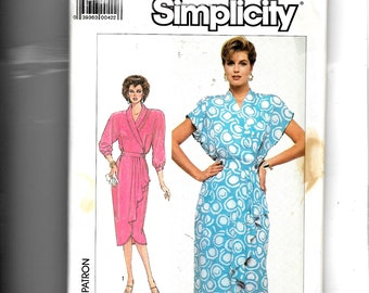Simplicity Misses' Front Wrap Dress   Pattern 7887