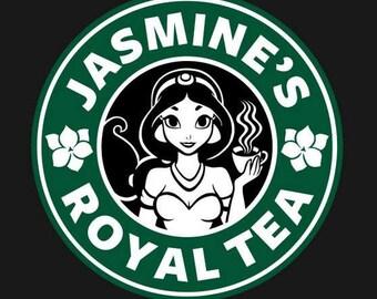 DIY Jasmine's Royal Tea Vinyl Decal, Tea Lovers Decal, Laptop Decal, Tablet Decal, Car Window Decal, Tea Cup Decal, Drinkware Decal,