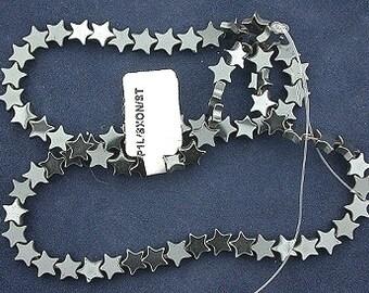 6mm star hematite bead strand gem stone gemstone