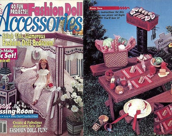 Fashion Doll Accessories / Plastic Canvas Pattern Book / House of White Birches