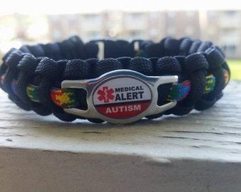 Autism Medical Alert Paracord bracelet