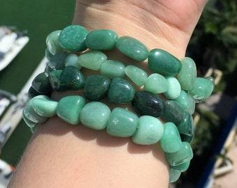 Green Aventurine Bracelet / Healing Stone Bracelets Charged w/ Reiki