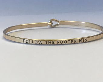 Inspired bangle bracelet (follow the footprint)