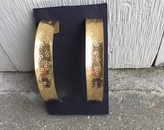 Large Hoop Brass Earrings, Big Brass Earring Hoops, Brass Earring Hoops, Large Hoop Brass Earring, Light As a Feather Brass Hoop Earrings