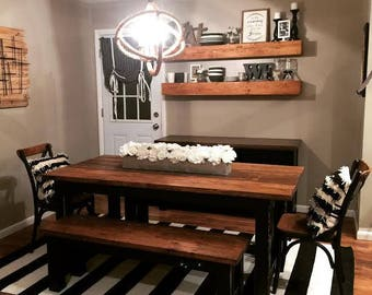 Farmhouse table with 2 benches-Local Pick-Up Cincinnati