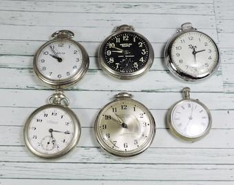 Vintage Pocketwatches, 6 Pieces