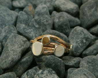 Bronze and Sterling silver ring