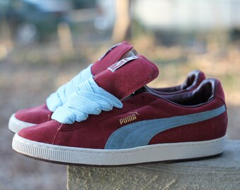 """Beautiful vintage 1990s Puma suede """"The Clyde"""" B-Boy B-Girl break sneakers by Puma - Men's 12, fit more like 11.5"""