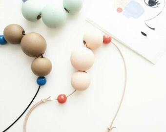 Jehane - Colorblock Beaded Necklace