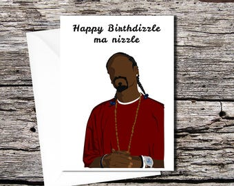 Snoop Dogg high quality greetings card (A5 folds to A6)