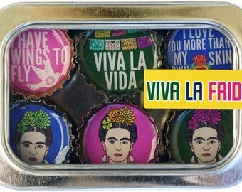 Viva La Frida Magnet Set