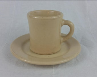 Vintage Victor Mug with Vitrified JAC-TAN Saucer