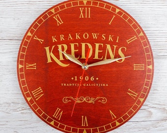 Personalized Family Wooden Wall CLOCK on order with your TEXT or LOGO