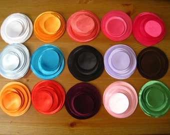 """300 Hand Cut Fabric Circles -  Max 5 colors from 1.5"""" to 3"""""""