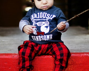 Buffalo Check Baby Leggings/ Baby Pants/ Toddler Leggings/ Newborn Leggings/ Baby Boy Leggings/ Baby Gift/ Baby Outfits/ Baby Clothing