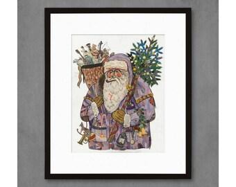 St. Nicholas Santa Claus Art Print