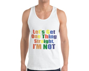 LGBT /Gay Pride Parade /LGBT Gifts/ gay pride tank top/ Let's Get One Thing Straight I'm Not Shirt