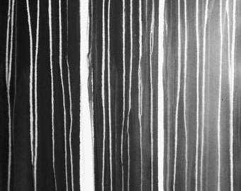 """A1 Modern Abstract One of A Kind Black and White Ink Wash Painting 23.4x33.1"""" Chopsticks 1565 """""""