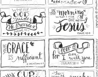 Printable Scripture cards #3 - inspirational cards - scripture memory - encouragement scripture cards - digital download