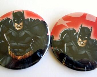10 Upcycled Batman - Batman Party Favors - fête d'anniversaire de Batman - Batman commentaires des faveurs - Batman parti boutons