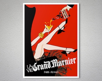 Grand Marnier Vintage Food & Drink Poster - Art Print - Poster Print, Sticker or Canvas Print / Gift Idea