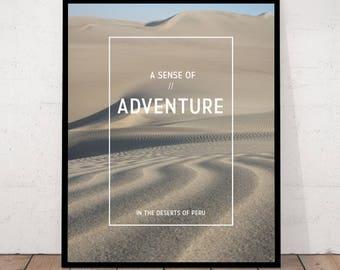 Desert Print, Desert Landscape, Dune Print, Minimalist Art, Peru, Minimalist Landscape, Desert Photography, Landscape Photography