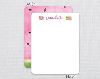 Watermelon thank you notes -  Flat Notecards Stationery with 2-sided printing