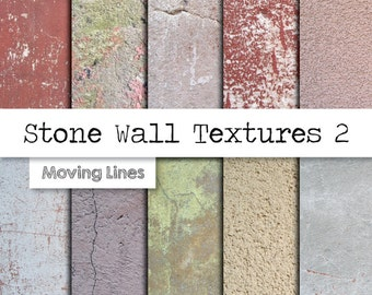 Stone Texture Digital Papers, Distressed Stucco, Concrete Background, Grunge Wall, Textured Plaster Wall Photography Backdrop