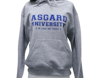 Asgard University Sweater  - THOR Hoodie Sweatshirt - Unisex Sizes S, M, L, XL