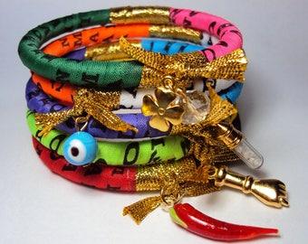 Handmade bracelet with pendants