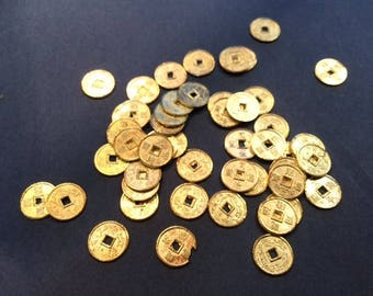 Chinese coins gold 10 mm bracelet friendship cuff magnetic headband